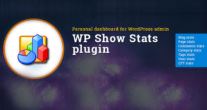 Personal WordPress dashboard - WP Show Stats WordPress plugin