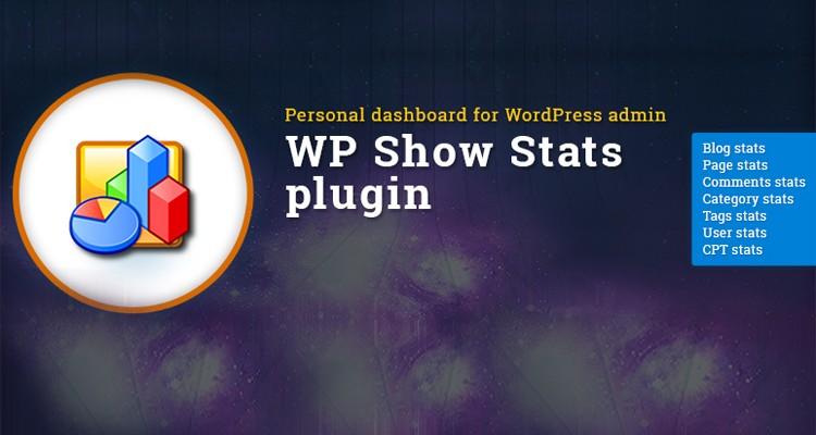 Personal WordPress dashboard - WP Show Stats WordPress plugin