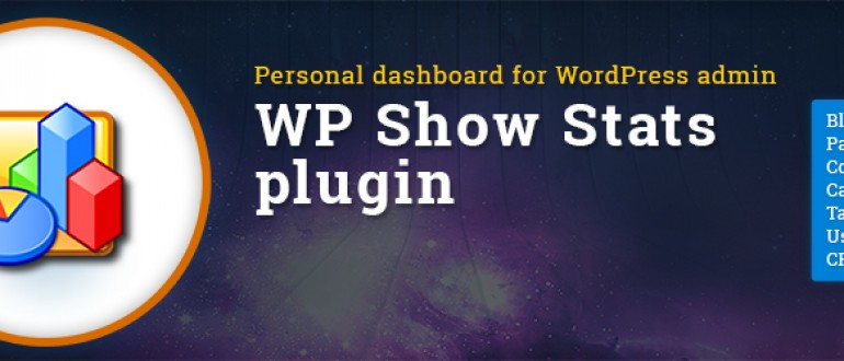 Personal WordPress dashboard – WP Show Stats WordPress plugin