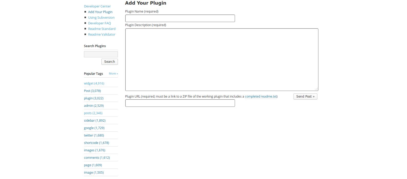 WordPress Plugin Submission