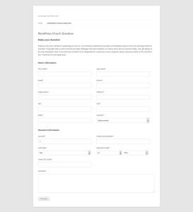 WP Church Donation Form