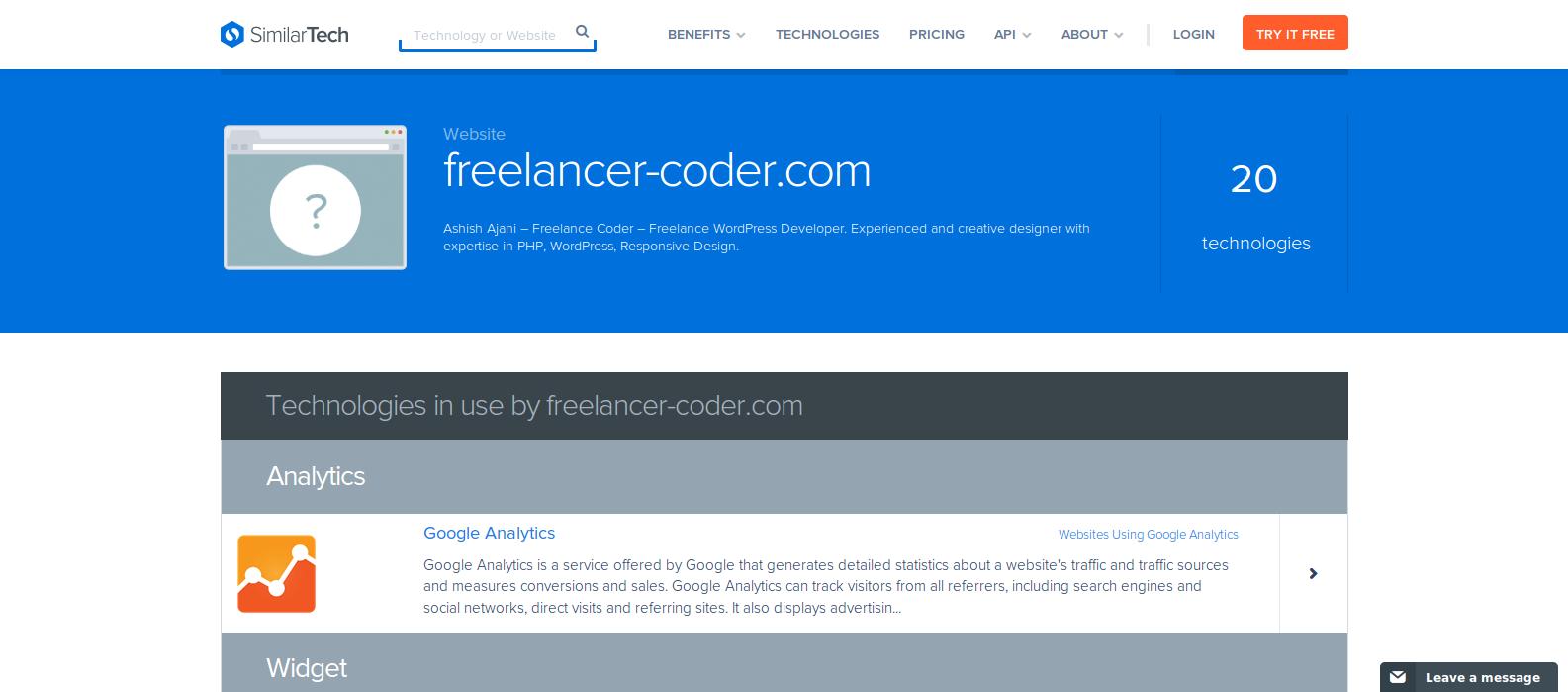 Determine-technologies-a-website-built-on-using-SimilarTech