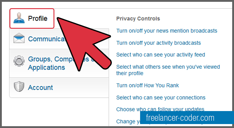 3 LinkedIn Profile Option