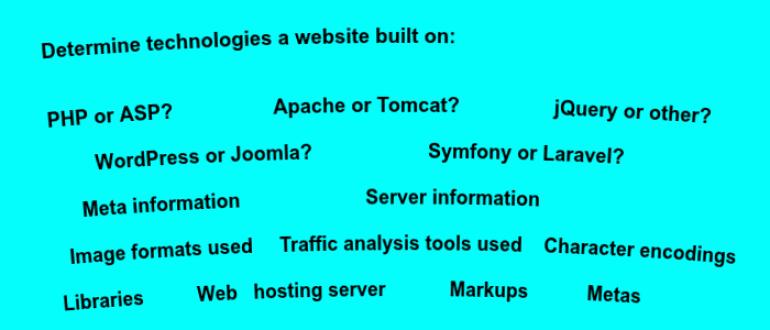 Determine technologies a website built on