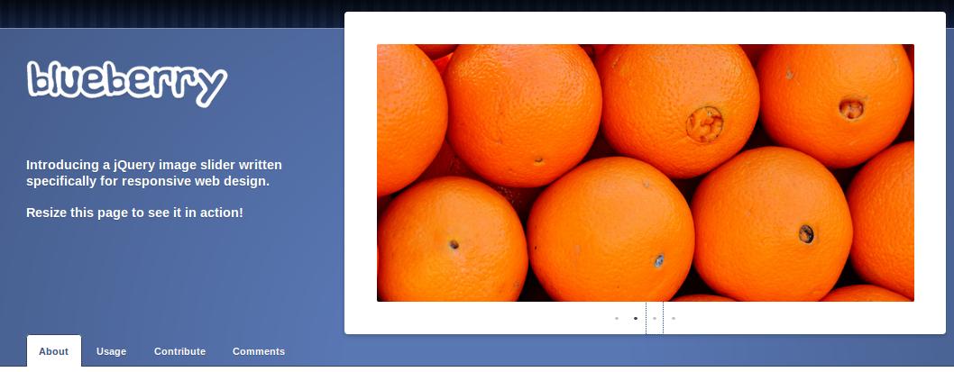 Blueberry - jQuery responsive sliders