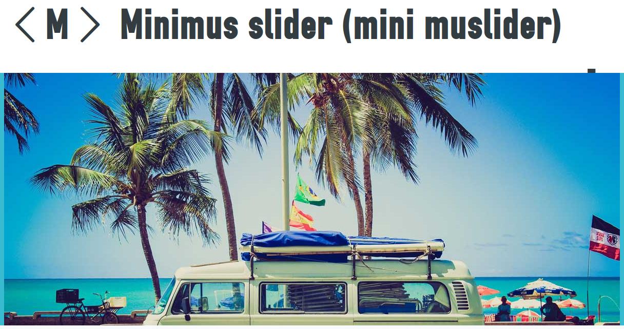 Minimus slider - jQuery responsive sliders
