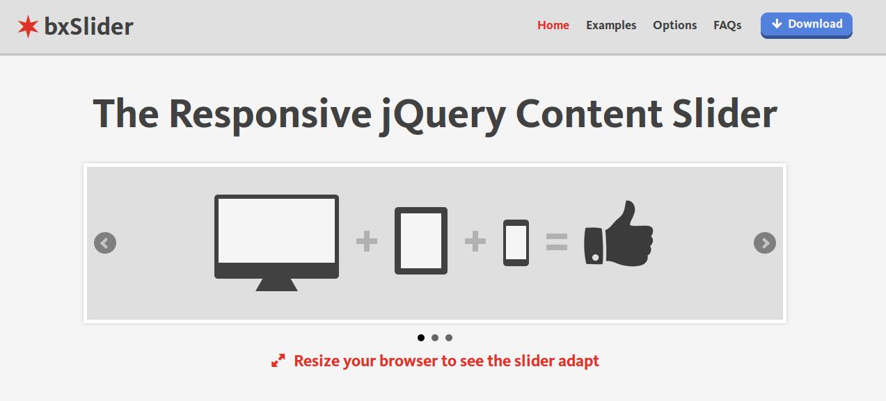 bxSlider - jQuery responsive sliders