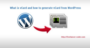 Generate vCard from WordPress