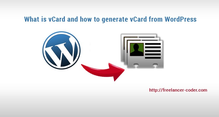 What is vCard and how to generate vCard from WordPress