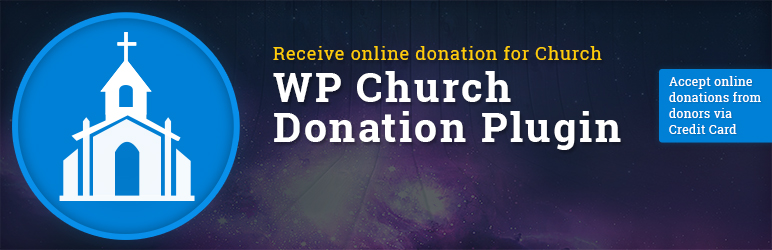 WP-Church-Donation plugin for online giving and donation, specially designed for non-profit organizations.