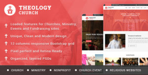 Free Church PSD Template