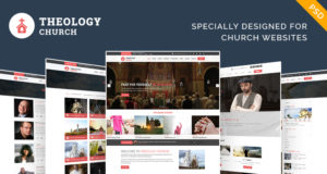 Free Church PSD Template