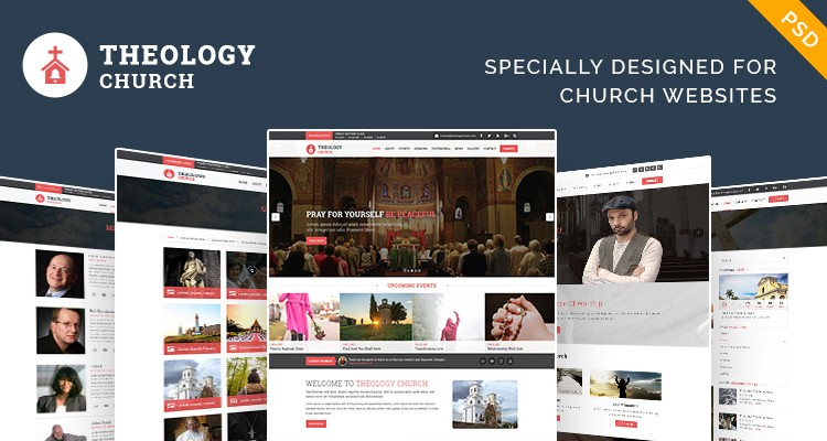 Free church PSD template to build stand out site