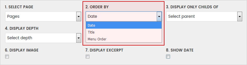Order By Date - WordPress Simple HTML Sitemap