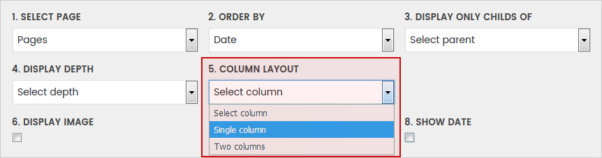 Column Layout - WordPress Simple HTML Sitemap